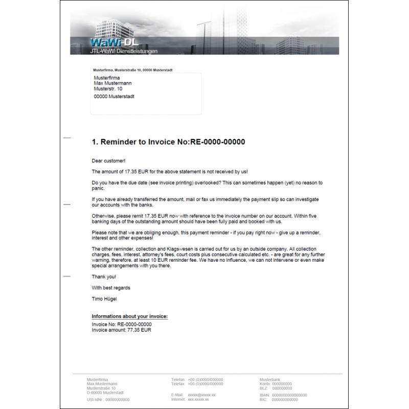 Jtl Wawi Druckvorlagen Englisch Design 01 Wawi Dl 2500