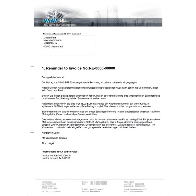 Jtl Wawi Druckvorlagen Englisch Design 04 Wawi Dl 2500