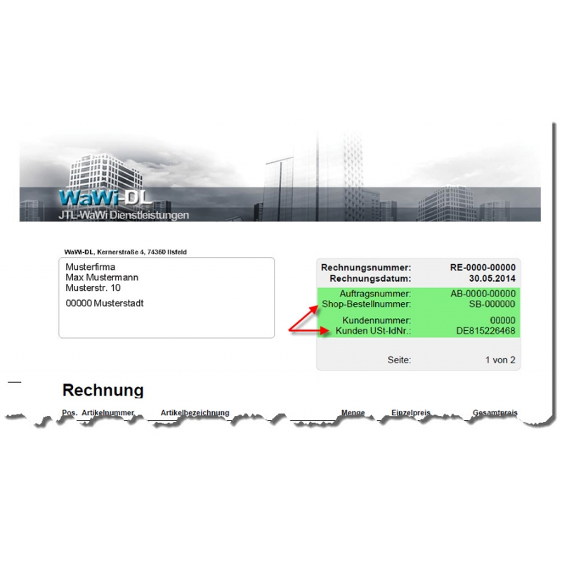 JTL Wawi Druckvorlagen (Design 01), WaWi-DL, 25,00 €
