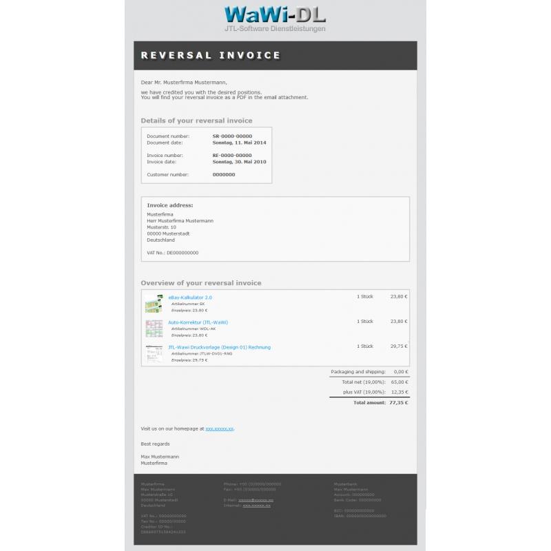 Jtl Wawi Email Vorlagen Html Englisch Design 01 Wawi Dl 1000