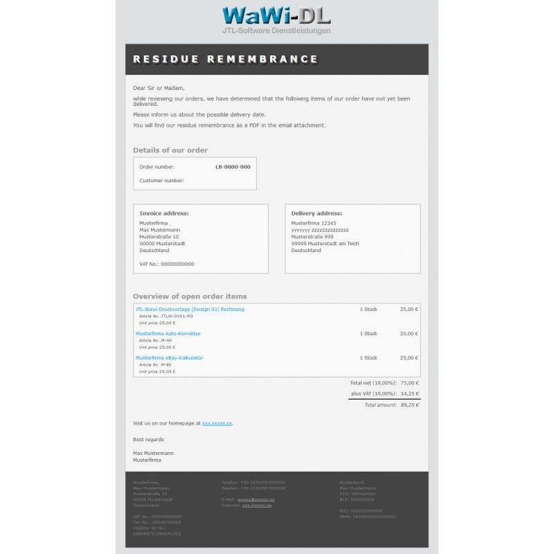jtl wawi email vorlagen html englisch design 01 wawi dl 10 00. Black Bedroom Furniture Sets. Home Design Ideas