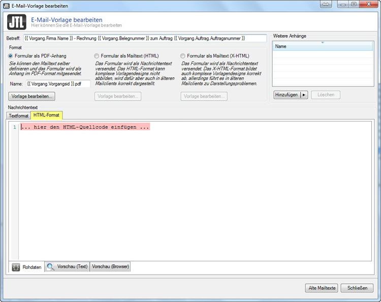 JTL Wawi Email-Vorlagen HTML (Design 01), WaWi-DL, 10,00 €